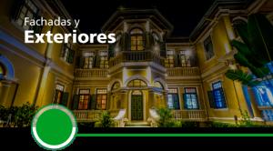 iluminación de fachadas y exteriores